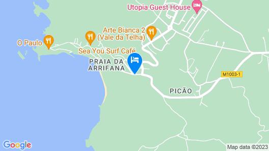 Apartamento Junto à Praia na Arrifana, by Izibookings Map