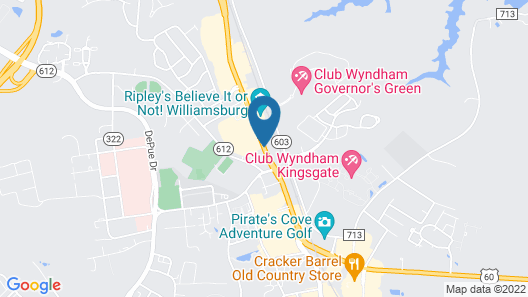 Hilton Garden Inn Williamsburg Map