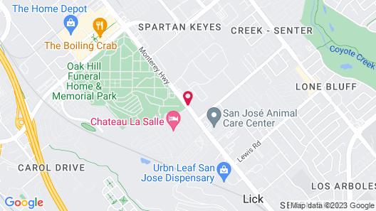 SureStayPlus Hotel by Best Western San Jose Central City Map