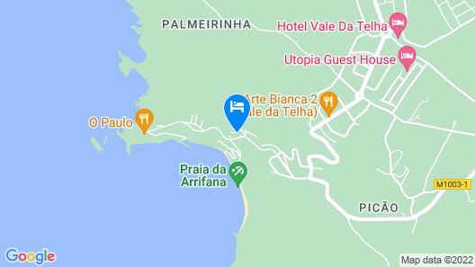 Moradia Perto da Praia da Arrifana, by Izibookings Map
