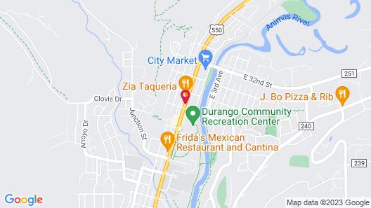 Quality Inn Durango Map
