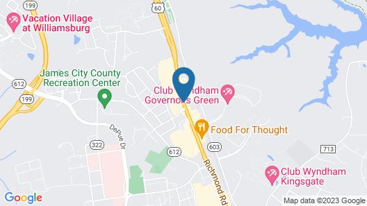 Hampton Inn & Suites Williamsburg-Richmond Rd. Map