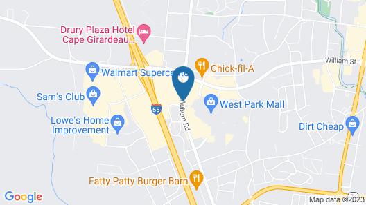 Hampton Inn Cape Girardeau I 55 East Map