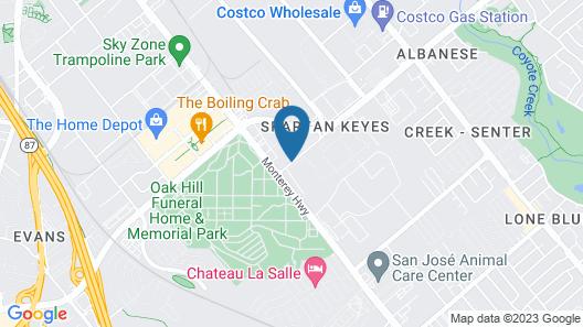 Hampton Inn And Suites San Jose Map