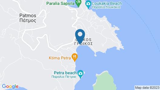 Patmos Aktis Suites & Spa Map