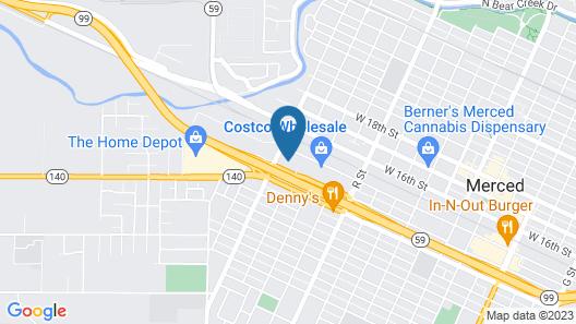 Motel 6 Merced, CA - North Map