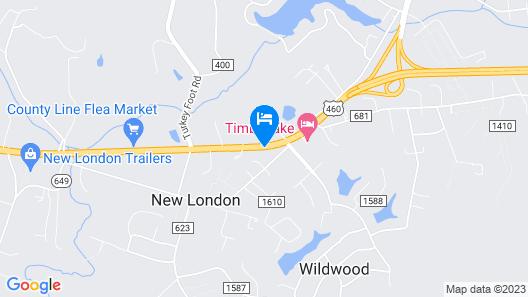 Timberlake Motel Map