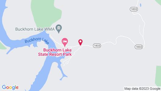 Buckhorn Lake State Resort Park Map