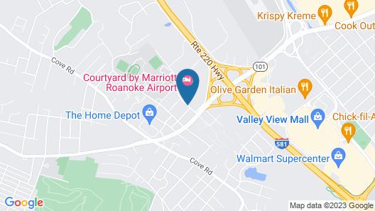 Residence Inn by Marriott Roanoke Map