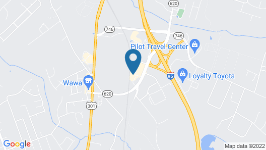 Candlewood Suites Colonial Heights Fort Lee, an IHG Hotel Map
