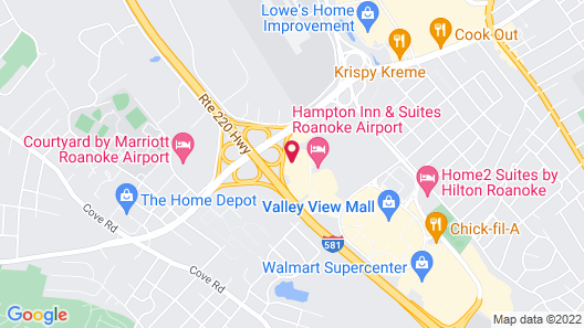 Hyatt Place Roanoke Airport/Valley View Mall Map