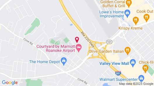 Holiday Inn Roanoke - Valley View, an IHG Hotel Map