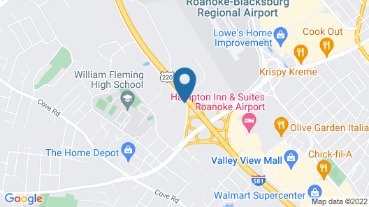 Extended Stay America Suites Roanoke Airport Map