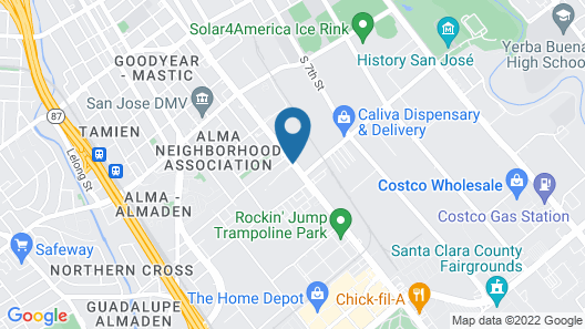 Casa Linda Motel Map
