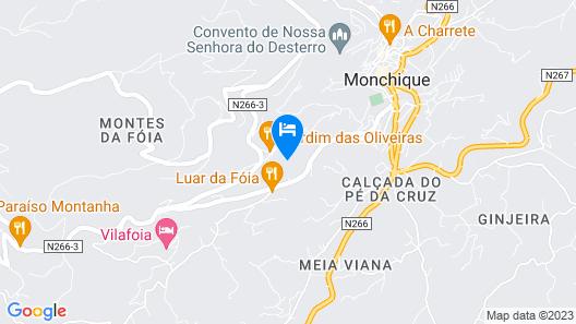 In Portugal, Algarve, Large Villa in Monchique, Swimming Pool, Sauna, Jacuzzi Map