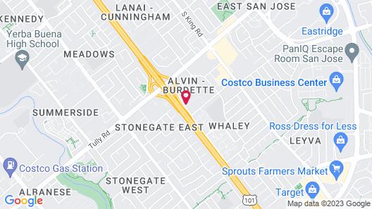 Motel 6 San Jose, CA - South Map