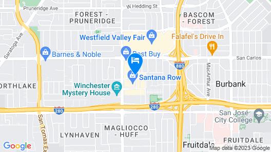 Hotel Valencia Santana Row Map