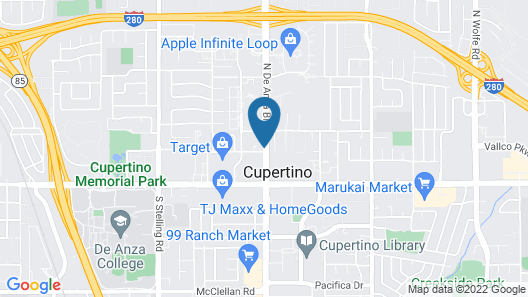 Aloft Cupertino Map