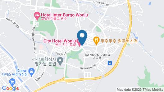Wonju Boscoa Hotel Map