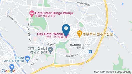 Wonju Citi Hotel Map