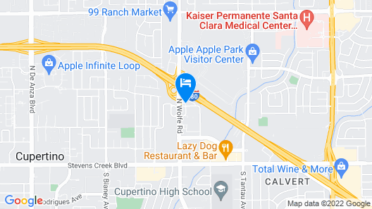Hyatt House San Jose / Cupertino Map