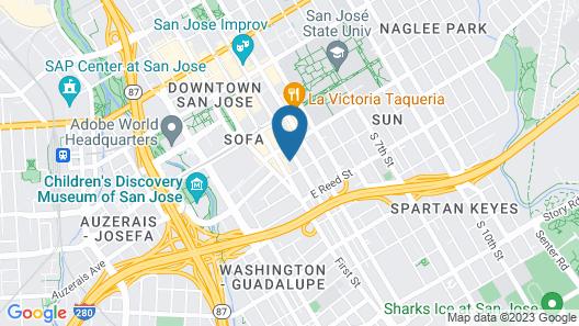 Ramada San Jose Downtown Near Convention Center Map
