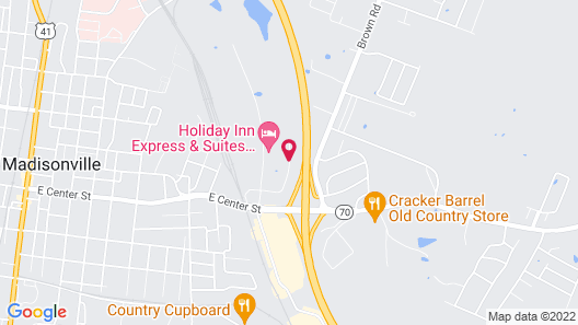 Hampton Inn & Suites Madisonville Map