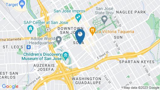San Jose Marriott Map