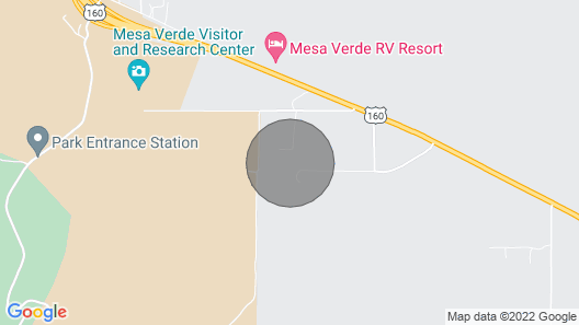 'luna Mesa' 5 Minutes From Mesa Verde National Park & 35 Minutes From Durango Map