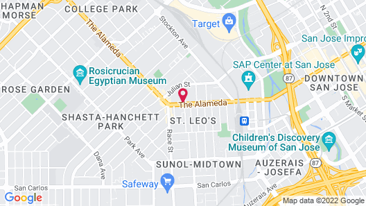 Motel 6 San Jose, CA - Convention Center Map