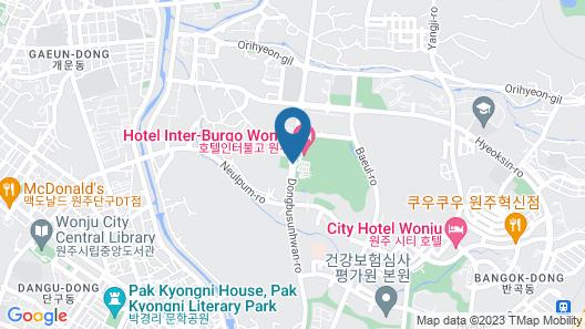 Hotel Inter-Burgo Wonju Map