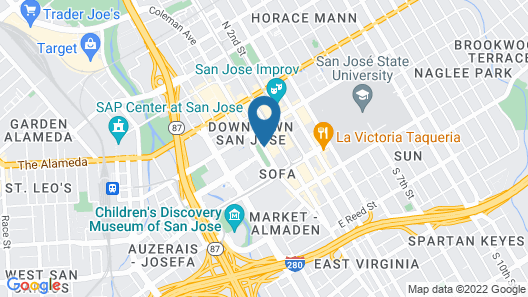 The Fairmont San Jose Map