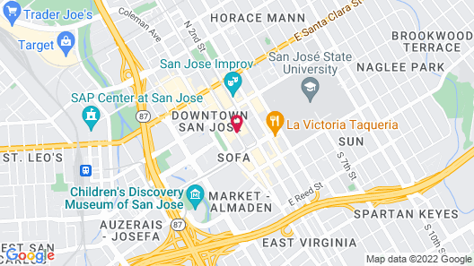 Four Points by Sheraton San Jose Downtown Map
