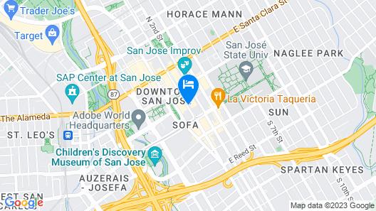 Four Points by Sheraton San Jose Downtown Map