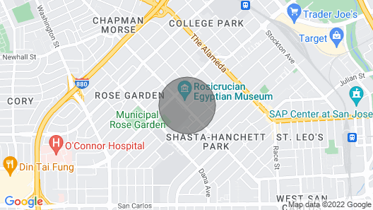 San Jose Rosegarden Cottage - Business Ready Map