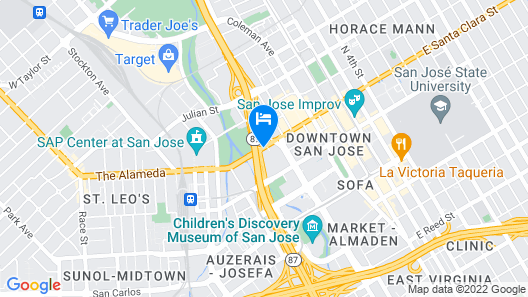 AC Hotel by Marriott San Jose Downtown Map