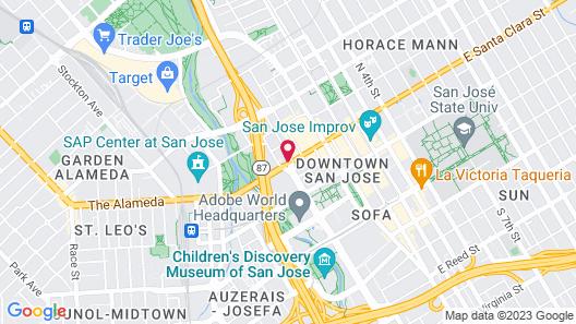 Hotel De Anza, a Destination by Hyatt Hotel Map