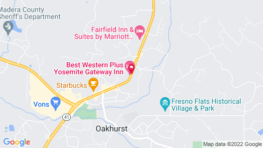 Best Western Plus Yosemite Gateway Inn Map