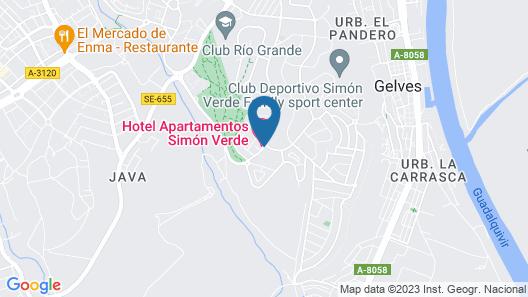 Hospedium Hotel Apartamentos Simón Verde Map