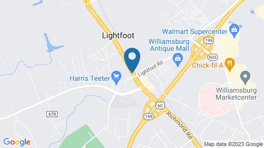 Howard Johnson by Wyndham Williamsburg Map