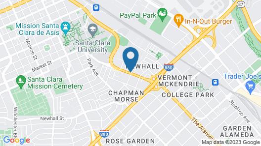 Valley Inn San Jose Map