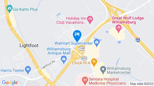 Holiday Inn Express Williamsburg North Map