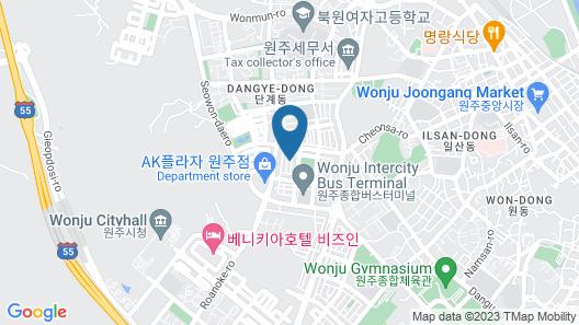 Wonju Hotel V Map