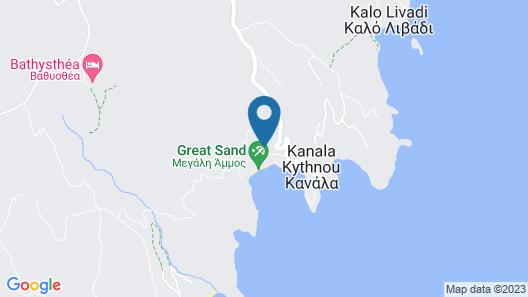Stunning Villa for 7 in Kythnos Map