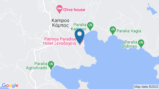 Patmos Paradise Hotel Map