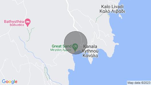 Ocean Villa 1 for 6 in Kythnos Map