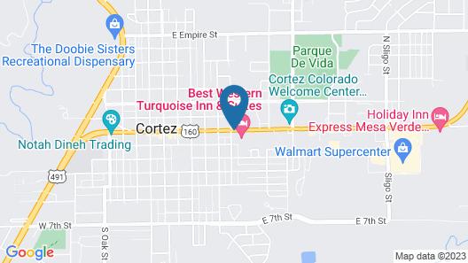 Super 8 by Wyndham Cortez/Mesa Verde Area Map