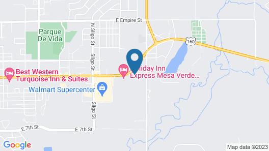 Hampton Inn Mesa Verde/Cortez Map