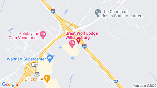 Great Wolf Lodge Williamsburg Map
