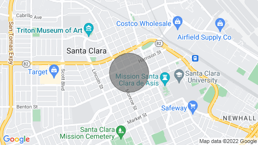 Private bed + full bath in heart of Silicon Valley Map
